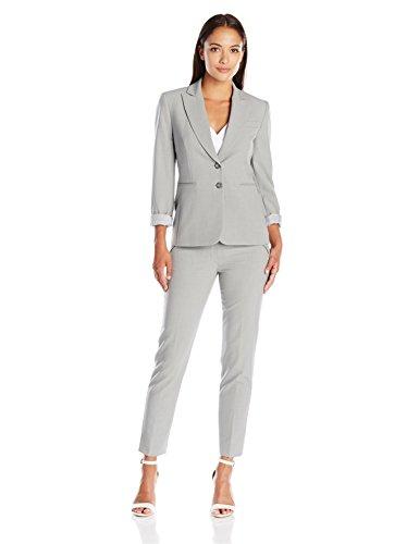 Tahari By Arthur S. Levine Womenu2019s Petite Asl Bistretch Pant Suit With Striped Lining   Shop ...