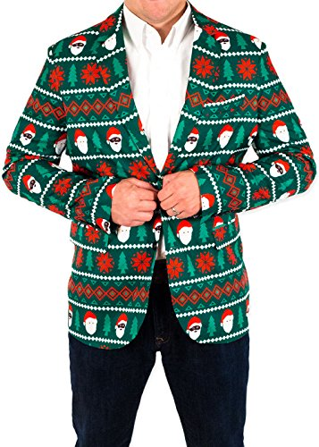 Men's Holiday Santa Equality Christmas Suit Coat in Green ...