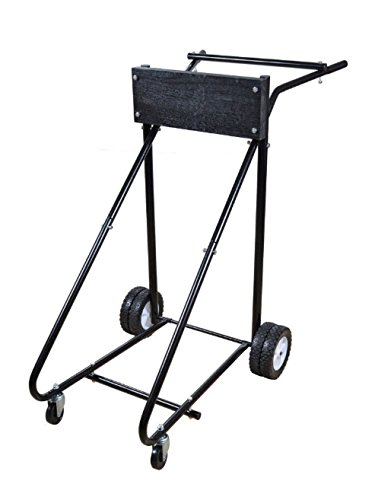 Black Outboard Motor Boat 315lb Stand Carrier Cart Dolly